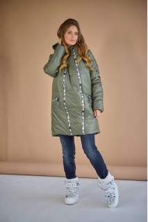 Зимняя куртка арт. 3044273 хаки для беременных