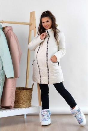 Зимова куртка 3044272 бежевий для вагітних