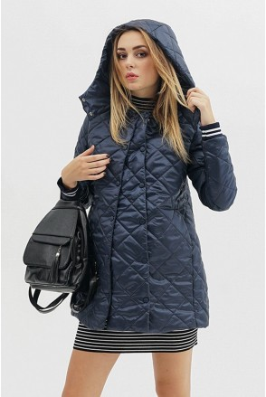 Демисезонная куртка 3133272 стеганная синяя для беременных