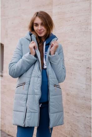 Зимова куртка 3044274 оливковий для вагітних