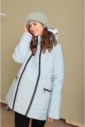 Зимова куртка 3044274 Лазурний для вагітних