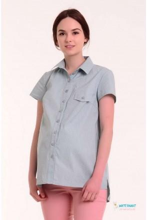 Рубашка Matata мятная в горошек для беременных