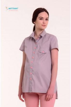 Рубашка Matata розовый горошек для беременных