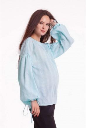 Блуза RUSTIC нежно-ментоловый для беременных и кормящих