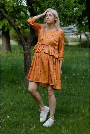 Платье INDY золотисто-оранжевый для беременных