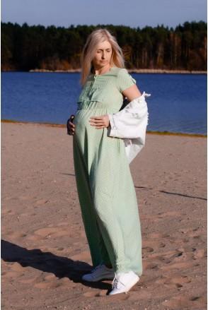 Платье CANDY нежно-мятный для беременных и кормления