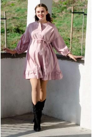 Платье SOFFY фрезовый для беременных и кормления