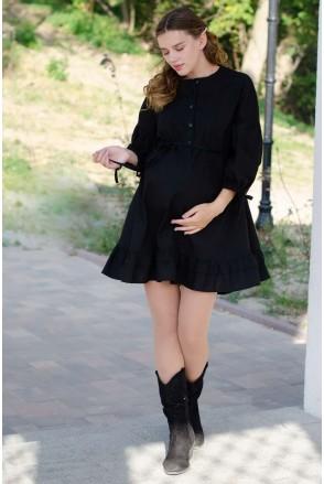 Платье SOFFY черный для беременных и кормления