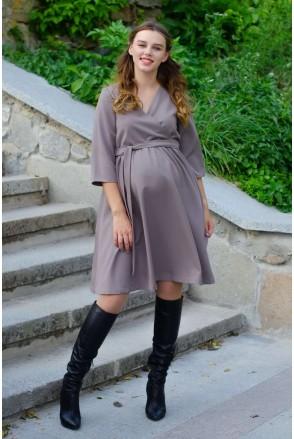 Платье GLORIS светлый мокко для беременных и кормления