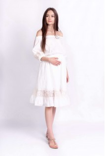 Платье DIANA молочный для беременных
