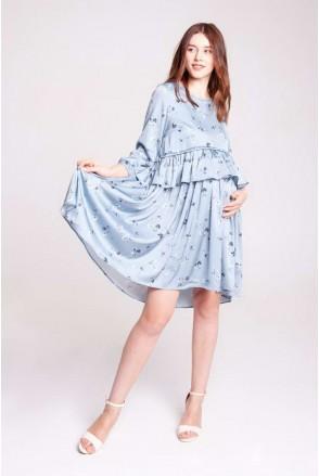 Платье INDY серебристо-голубой для беременных