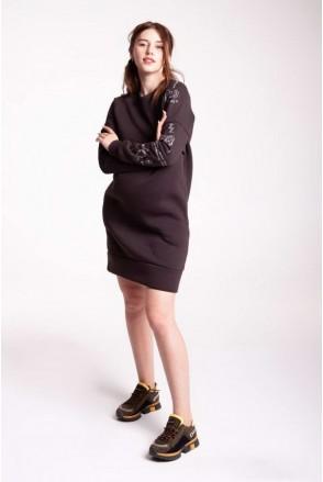Платье TATTO DRESSS насыщенный коричневый для беременных и кормящих
