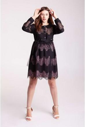Платье BLANSH черный для беременных и кормящих