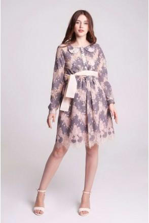 Платье BLANSH тауп для беременных и кормящих