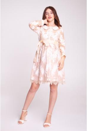 Платье BLANSH нежный беж для беременных и кормящих
