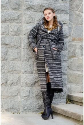Пальто-кардиган BOBO COAT черный меланж для беременных