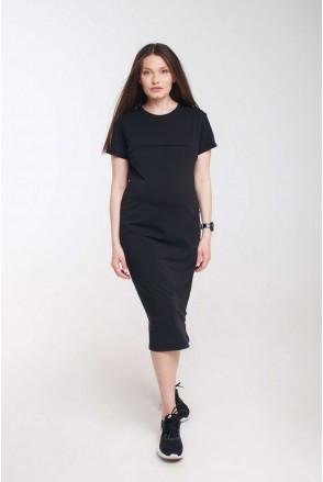 Платье Move черный для беременных и кормления