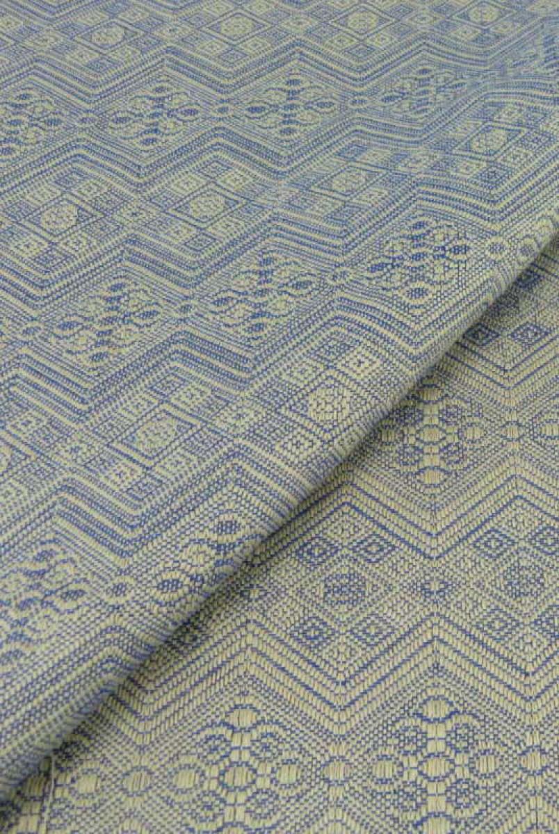 Слинг-шарф 1975 Blue silk, extrabreit