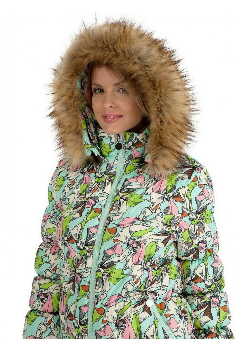 """Куртка 2в1 зимова """"Монако"""" орхідея для вагітних"""
