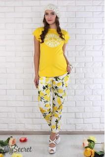 Штани Dioni TR-26.053 лимони на молоці для вагітних