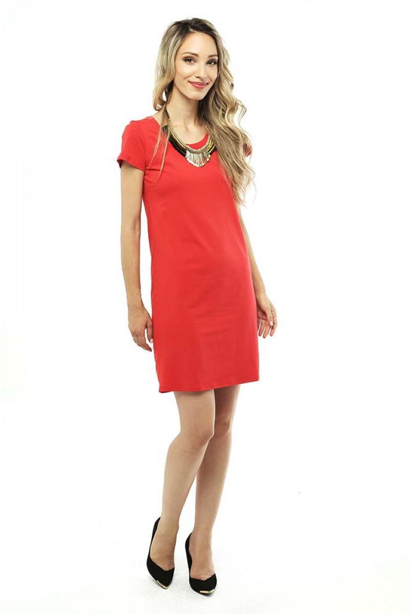 Платье мини-Красное для беременных
