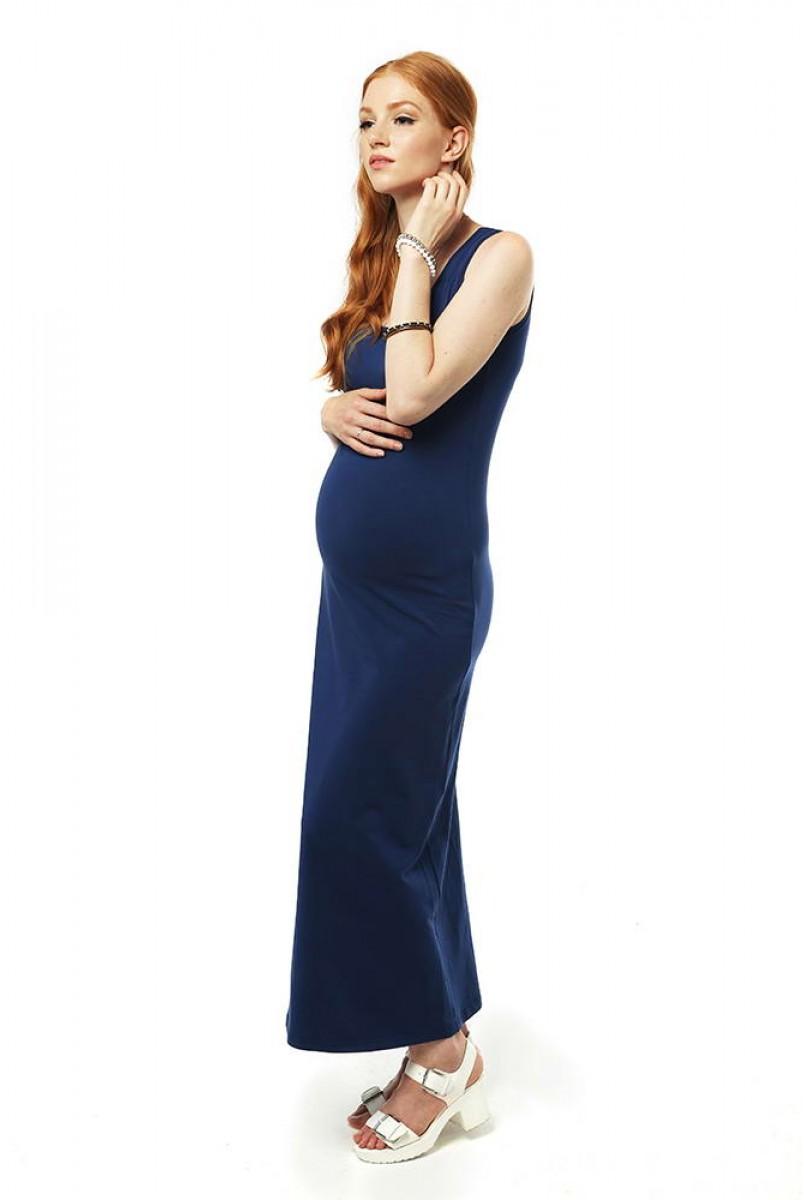 Платье макси 2 в 1-Нэви для беременных
