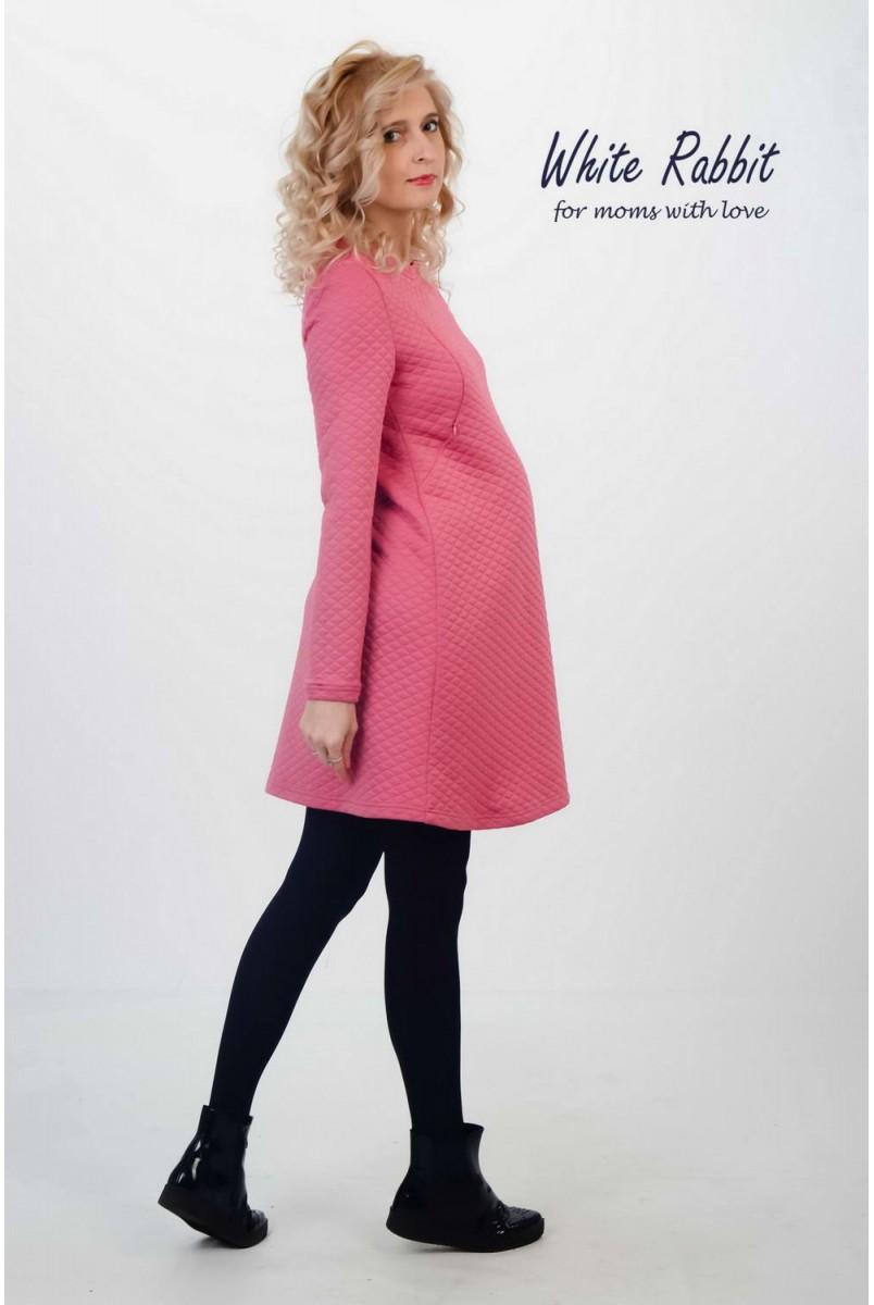 Платье Розовая Пудра для беременных и кормящих