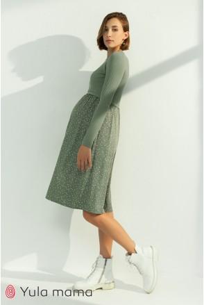 Платье для беременных и кормления Юла мама Paula DR-31.043 оливка