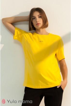 Футболка для беременных и кормления Юла мама Muse NR-31.051 желтый