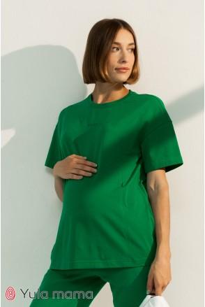Футболка для беременных и кормления Юла мама Muse NR-31.053 зеленый