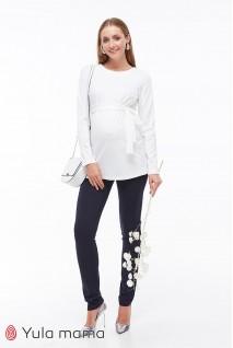 Брюки для беременных Юла мама Livorno TR-39.033 темно-синий
