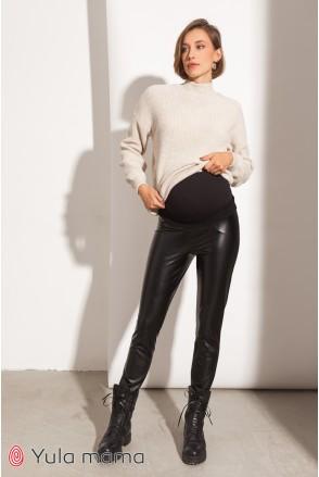 Теплые брюки-лосины для беременных Юла мама Elle warm TR-41.101 черный