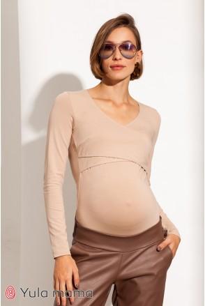 Боди для беременных и кормления Юла мама Fleur NR-31.043 нюд