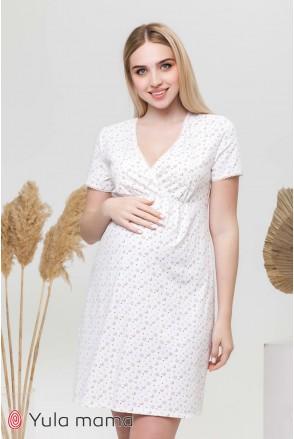 Ночная сорочка Alisa light мишки на молочном фоне для беременных и кормления