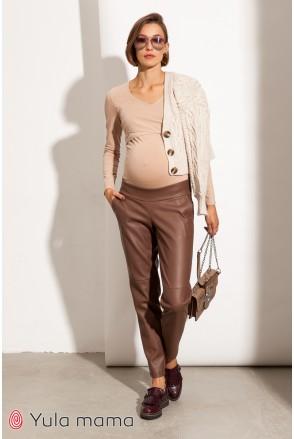 Брюки для беременных Юла мама Tanita TR-31.023 коричневый