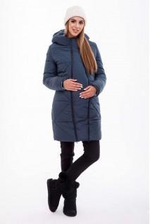 Зимнее теплое пальто ANGIE OW-49.031 синий для беременных