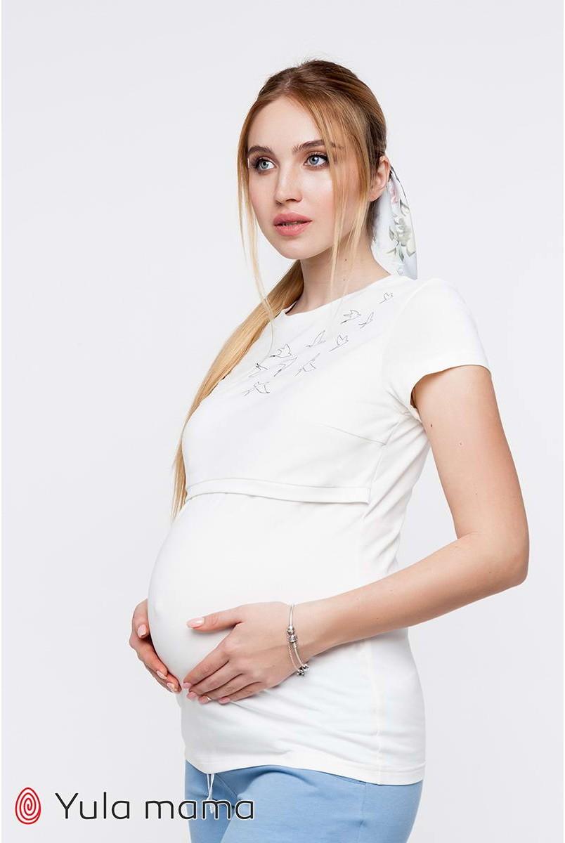 Футболка Romana NR - 21.051 молочний для вагітних і годування