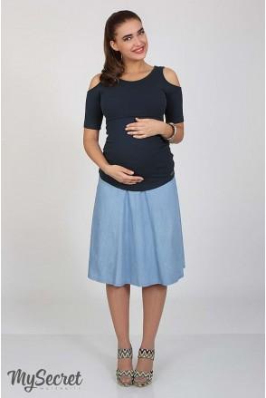 Юбка Peri голубой джинс для беременных