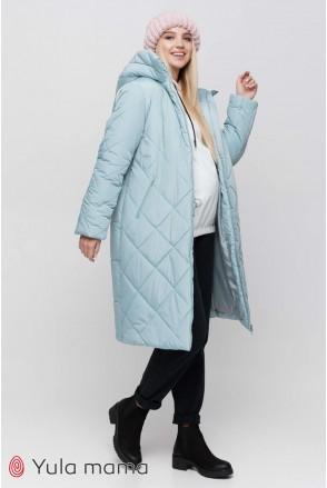 Зимнее теплое пальто Helsinki полынный для беременных