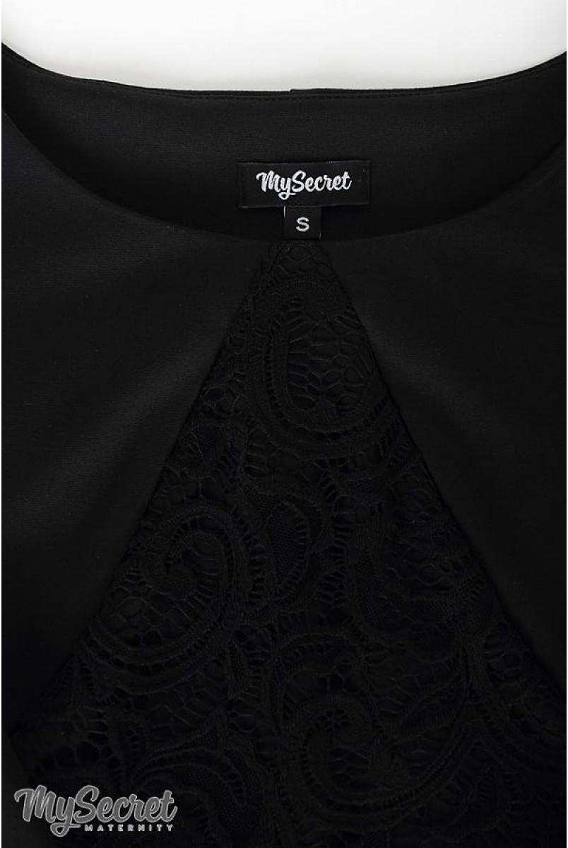 Платье Alen черный для беременных и кормящих