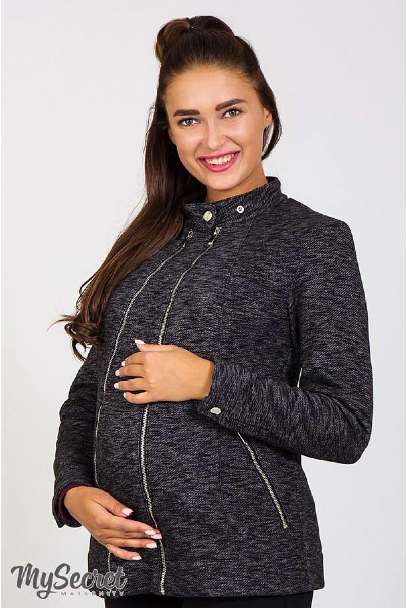 Жакет Astrid чорний меланж для вагітних