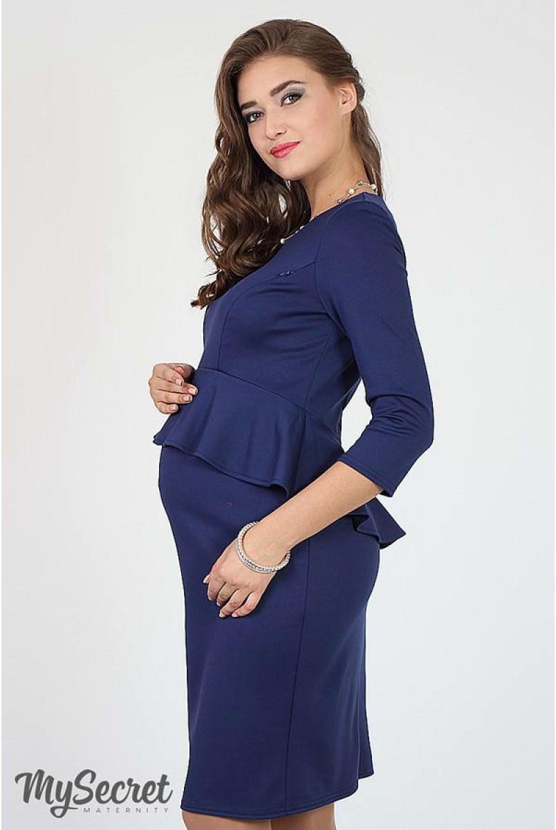 Платье Catherine синий для беременных и кормящих