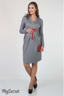 Платье Messalina серый меланж для беременных и кормящих