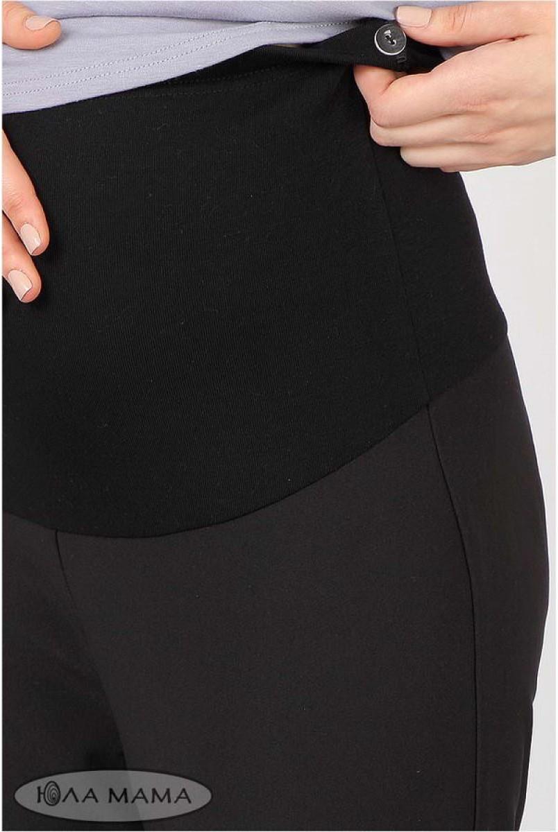 Брюки Lera теплі чорний для вагітних