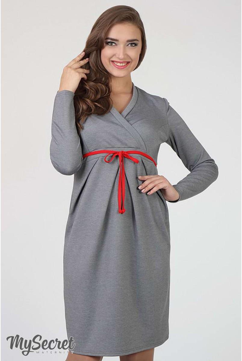 Сукня Messalina сірий меланж для вагітних і годування