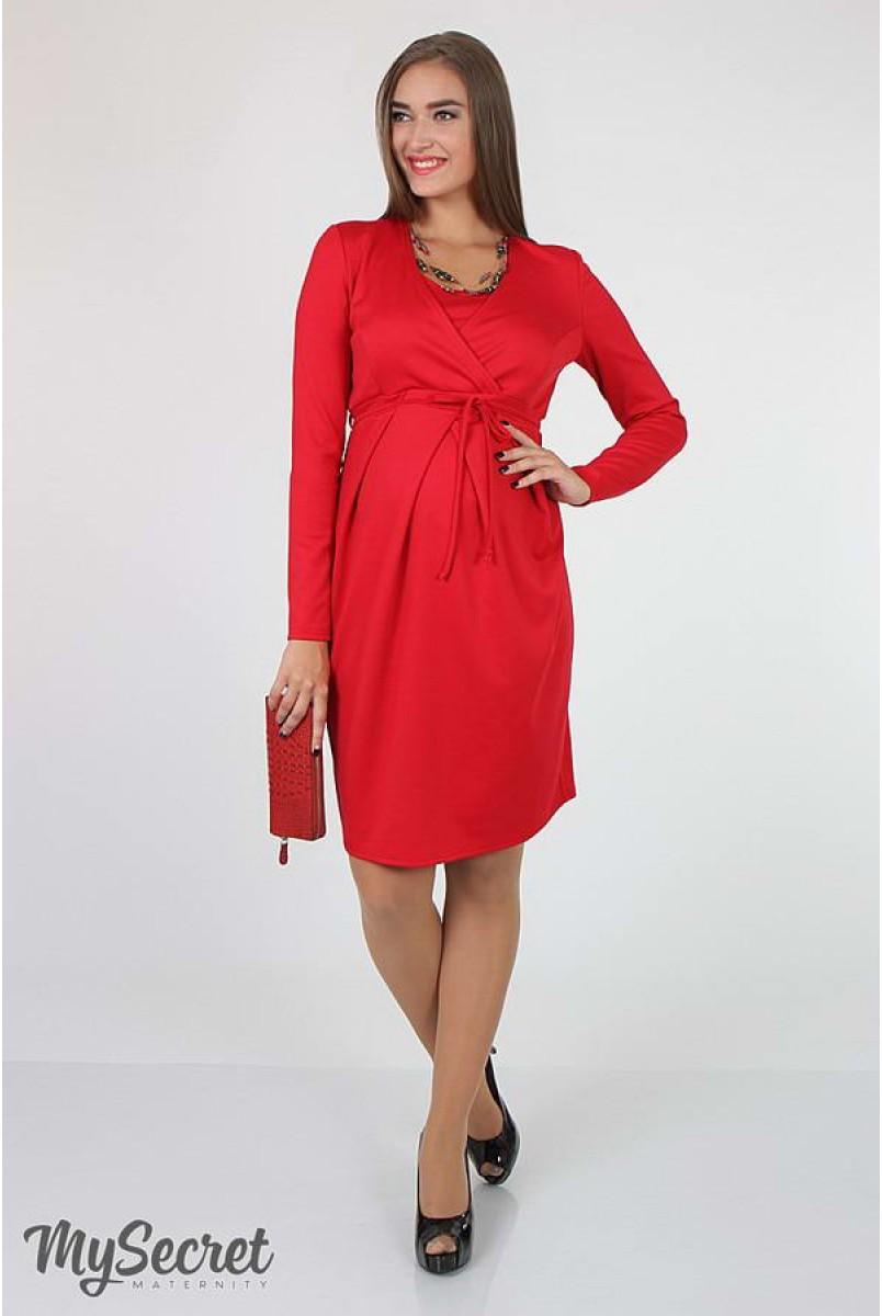 Платье Winona красный для беременных и кормящих