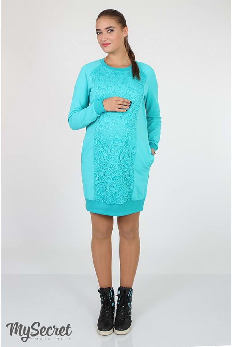 Платье Margarita мята для беременных и кормящих