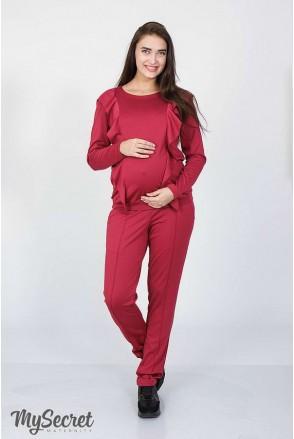 Костюм Shaia ягодный для беременных и кормящих