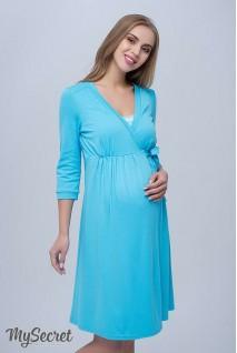 Халат Sinty голубой для беременных и кормящих