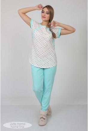 Пижама Relax разноцвет.горошки + ментол для беременных и кормящих